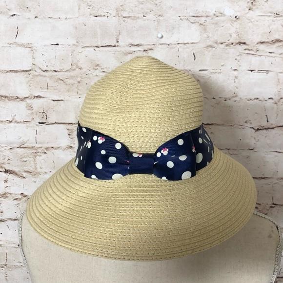 b023a4750 🔹DISNEY MINNIE MOUSE WOMEN STRAW HAT WITH BOW